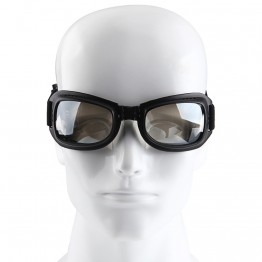 Hot Seller 1 Piece Clear Lens Black Motocross Dirt Bike Goggles Motorcycle Riding Ski Goggles Windproof
