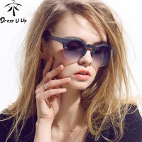 New Fashion Designer Classic Vintage Sunglasses For Woman Semi-Rimless High Quality