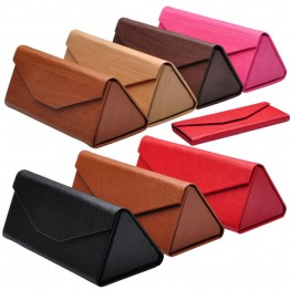 New Unique And Classy High Fashion Leather Folding Hard Sunglass Eyewear Case Very High Quality 7 Color Options