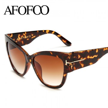 AFOFOO WOMENS LUXURY DESIGNER FASHION CAT EYE SUNGLASSES UV400