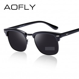 AOFLY Fashion Trend High Quality High Fashion Classic Half Frame Polarized Mens Sunglasses UV400 Protection