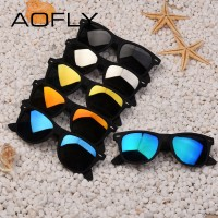AOFLY Mens Fashion Polarized Driving Mirror Sunglasses Plastic Frame UV400