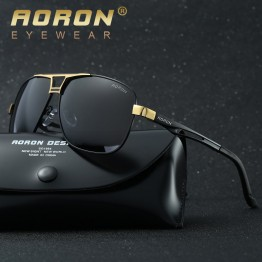 AORON Luxury High Fashion High Quality Designer Sunglasses Stainless Steel Frame Mens/Womens Includes Carrying Case And Lens Cloth UV400 Protection