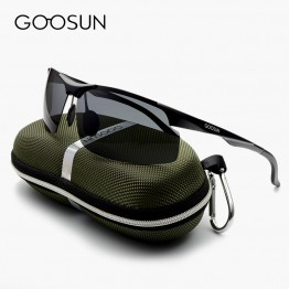 High Quality Designer Aluminum Luxury Polarized Sunglasses For All Sports for Both Men And Women Full UV400 Protection Includes Hard Carrying Case Soft Case And Lens Cloth Yellow Lens Is Night Driving