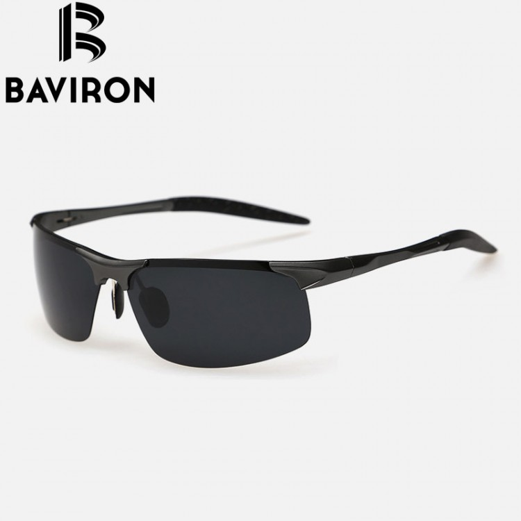 40ffdaf5c2 BAVIRON NEW MENS SPORTS SEMI RIMLESS LIGHTWEIGHT HIGH QUALITY ALUMINUM  POLARIZED SUNGLASSES WITH LENS CLOTH AND CARRYING CASE UV400 PROTECTION