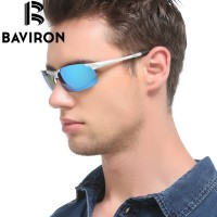 BAVIRON NEW MENS SPORTS SEMI RIMLESS LIGHTWEIGHT HIGH QUALITY ALUMINUM POLARIZED SUNGLASSES WITH LENS CLOTH AND CARRYING CASE UV400 PROTECTION