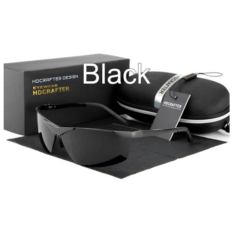 b02e3f1715 High Quality Aluminum Magnesium Sports Sunglasses For Men Luxury Polarized  Goggle Style Full UV400 Protection Includes Hard Carrying Case Lens Cloth