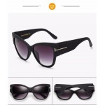 2017 New Womens Vintage High Fashion Designer Cat Eye Luxury Oversize Sunglasses UV400 Protection