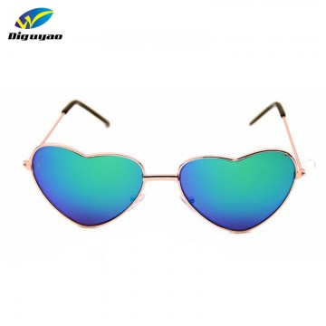 New Designer Fashion Kids Metal Frame Heart Shaped Sunglasses UV400 Protection