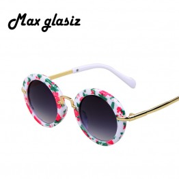New Vintage Style High Quality Fashion Designer Kids Sunglasses Aluminum Frame UV400 Protection