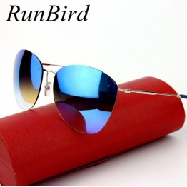 Womens New Trending Fashion Designer  Vintage Rimless Sunglasses UV400 Protection