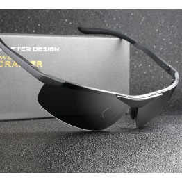 High Quality Aluminum Magnesium Sports Sunglasses For Men Luxury Polarized Goggle Style Full UV400 Protection Includes Hard Carrying Case Lens Cloth