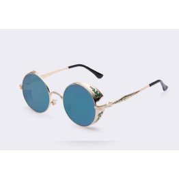 2017 STEAMPUNK HIGH FASHION TREND ROUND MIRROR VINTAGE SUNGLASSES FOR MEN/WOMEN