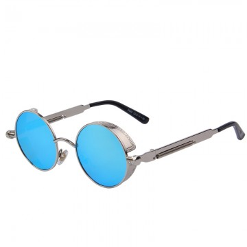 Classic Fashion Designers Vintage Gothic Steampunk Round Sunglasses Men/Women Mirrored UV400 Protection High Quality32777319315