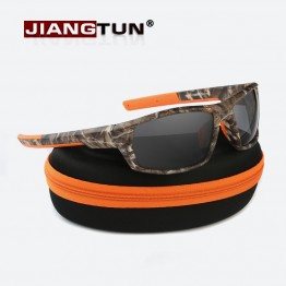 JIANGTUN Mens Hot Designer Trendy Sports Camo Polarized Sunglasses UV400 With Carrying Case