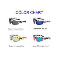 Hot Seller Leopard Frame Sunglasses Mens/Womens Cycling Golf Hiking Fishing Outdoor Sports High Quality Full UV400 Protection