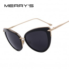 MERRY'S New Luxury Designer Fashion Womens Cat Eye Oval Sunglasses With Carrying Bag And Lens Cloth UV400 Protection