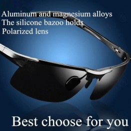 Mens Trendy Fashion Designer Polarized Sunglasses Aluminum Magnesium