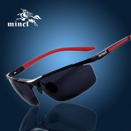 Mens Designer Driving Mirror Polarized Sunglasses Aluminum Magnesium 100% UV400 With Cleaning Cloth And Mirror Box