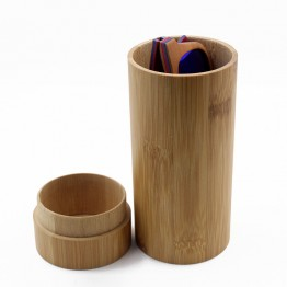 New 2017 Handmade Storage And Carrying Case Round Tube Made With Bamboo For Eyewear Sunglasses And Accessories