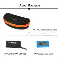 POLARSNOW New 2017 Mens Top Quality Sport Polarized UV400 Sunglasses With Carrying Case