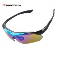 ROBESBON New Bike Eyewear For Men/Women High Quality Windproof Polarized Sunglasses Skiing Cycling Racing Riding Includes 5 Change Out Lenses Carrying Case Soft Case Head Band Lanyard Lens Cloth