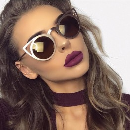 Super Hot 2017 Luxury Vintage Cat Eye Metal Frame Mirrored Womens Sexy Shades 11 Colors Available Very High Quality