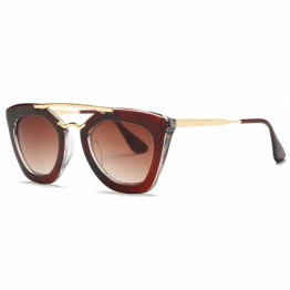 Hot Selling New Vintage High Fashion Womens High Quality Sunglasses Metal Frame Full UV400 Protection