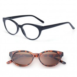 New Vintage Womens Reading And Sunglasses Cat Eye With Oval Frame