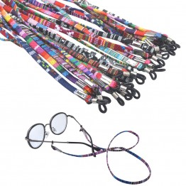 Hot Fashion Designer Eyeglass And Sunglasses Cotton Neck String Cord Retainer Strap With Very Good Quality Silicone Loops Comes In 13 Color Options For Women And Men
