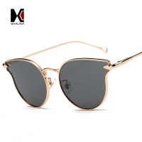 WOMENS NEW HIGH FASHION QUALITY MIRRORED CAT EYE SUNGLASSES WITH LENS CLOTH AND CARRYING POUCH UV400 PROTECTION