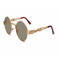New Trending Mens/Womens Luxury High Fashion High Quality Steampunk Mirror Sunglasses Stainless Steel Frame UV400 Protection