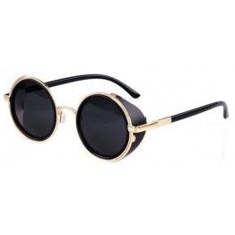 New Fashion Trend Vintage Designer High Fashion STEAMPUNK Round Sunglasses For Men And Women
