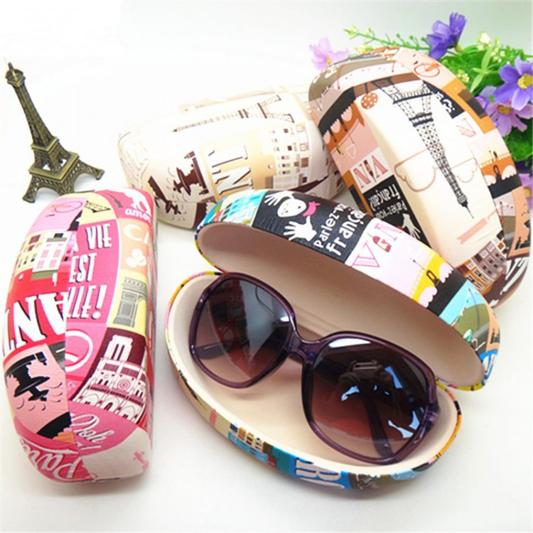 High Fashion Womens Sunglass Case High Quality Printed Leather Large Hard  Style For The Big Style Sunglasses b13f86a02520