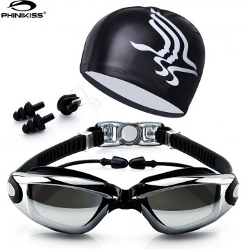 2017 New Professional Sports Swim Goggles With Cap Ear Plugs And Nose Clip Waterproof For Both Men/Women Anti-fog High Quality UV Full Protection32806519041