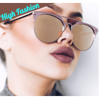 Luxury High Quality Classic Mirror Round Rose Gold Sunglasses For Women Full UV400 Protection Includes Soft Glass Case