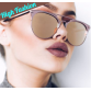 Luxury High Quality Classic Mirror Round Rose Gold Sunglasses For Women Full UV400 Protection Includes Soft Glass Case32666095400
