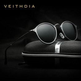 Designer Fashion Polarized Round Mirror Sunglasses For Men/Women Very High Quality Includes Hard Carrying Case And Lens Cloth